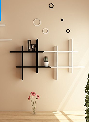 Onlineshoppee Beautiful MDF Fancy Wall Decor Rack Shelves Set Of 2 Size (Lxbxh-15X4X15) Inch