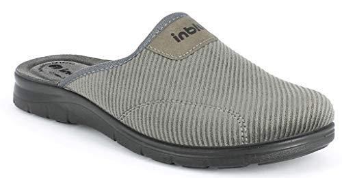 Inblu pantofole ciabatte da uomo invernali mod. bg-26 grigio nuovo (43 eu)