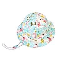 SYROSA Sun Bucket Hat for Baby Girls Travel Beach 50+ UV Sun Protection Wide Brim 4-8years