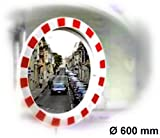 Verkehrsspiegel rund - (Spiegel aus Acrylglas) 600 mm Durchmesser - Übersicht bei Ausfahrt - 03.0111