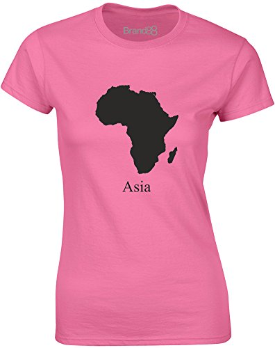 Brand88 - Asia, Mesdames T-shirt imprimé Azalée/Noir