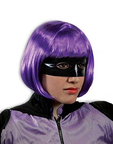 (Kick-Ass und Hit-Girl Damen Perücke + Lila)