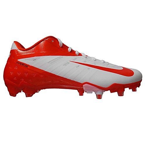 Nike Vapor Talon Elite Low TD Football Cleats (11.5, White/Orange Flash) (Orange Und White Football Cleats)