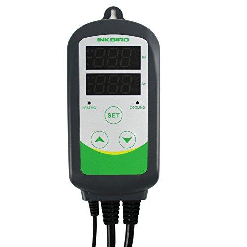 Inkbird 100-240V Temperaturregler Steckdose Thermostat Heizen & Kühlen für Vivarien, Aquarium,...