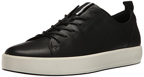 Ecco Herren Soft 8 Men'S Sneakers, Schwarz (1001BLACK), 43 EU