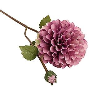 MObast Flores Artificiales, Flores Artificiales de Dalia Falsas de Seda, Flores de Hiedra y Hojas de Vid para Colgar…