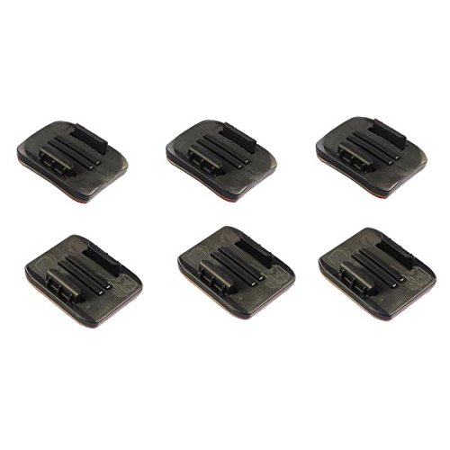 nilox-set-di-6-placche-piane-adesive-da-superfici-lisce-e-curve-per-f-60-evo-nero