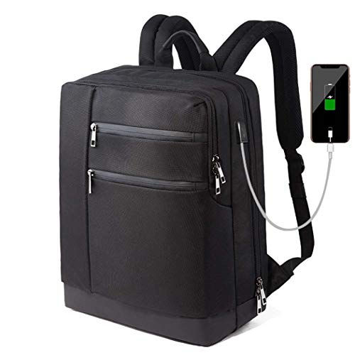 (Party Girls S Bergsteiger-Rucksack Business Laptop Rucksack Reisecomputer Rucksäcke Wasserdichte Laptop-Tasche Mit USB-Ladeanschluss (Schwarz))