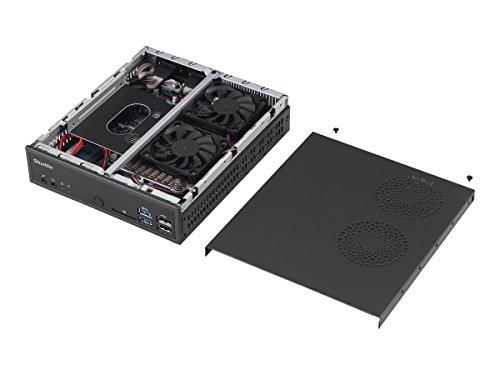 SHUTTLE Barebone XPC slim DH170 Sockel 1151 Core i7/i5/i3 2X DDR3L 1600 1XSATA/SSD Chip H170 4in1-CR HDMI 2XDP USB2/3 2xRJ45 schwarz