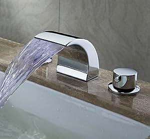 führte Wasserfall zeitgenössischen verbreitet Waschbecken Wasserhahn (verchromt)