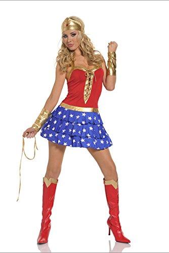 Gorgeous Superwoman Nachtklubleistungen Kostüm Cosplay Uniformen Halloween-Kostüm -Parteikostüme photography