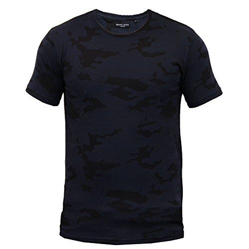 Jungen Tarnfarbe T-shirt Brave Soul Kinder Kurzärmelig Militär Armee Top Sommer Marineblau - VERKLEIDUNG