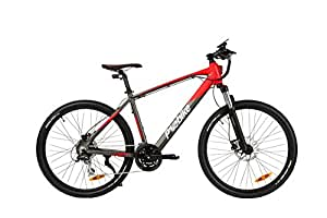 E-Bike Elektrofahrrad Mountainbike Trekkingrad E-MTB Motor verbaut im Rahmen - Original Samsung Akku 25 km/h 60km Reichweite P1 PowerOne (Grau)