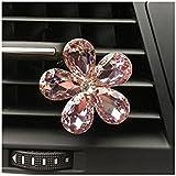 SODIAL(R) Automobile air conditioning decoration diamond exquisite flower car export perfume decorative interior decoration of pink