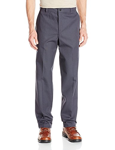 28x36UNF , Charcoal : Red Kap Mens' Stain Resistant, Flat Front work Pants