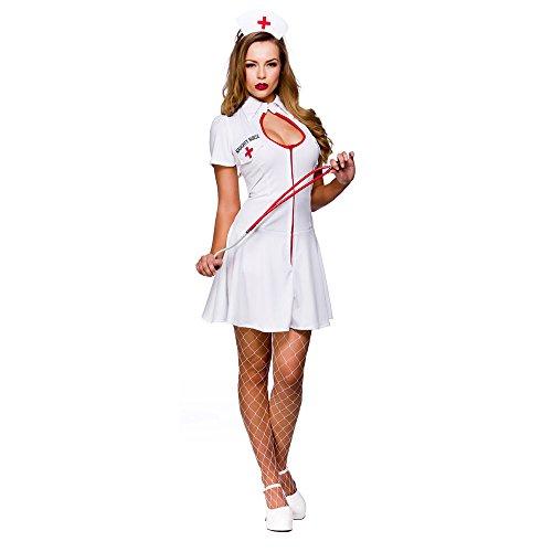 Unbekannt Sexy Naughty Hospital Nurse Adult Fancy Dress Doctor Costume (Naughty Adult Kostüm)