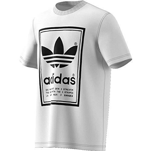 adidas Vintage Tee, T-Shirts Uomo, White/Black, L