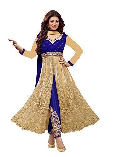 Ayesha Takia Blue And Cream Anarkali Suit  available at amazon for Rs.1499