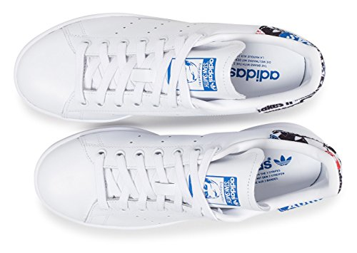 adidas Stan Smith, Sneaker Uomo Bianco (Footwear White/blue/core Black)