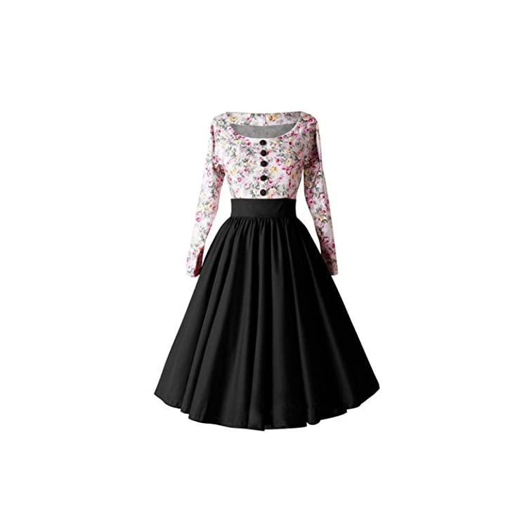 32a06643b5 Pingtr Hepburn Vintage Dress