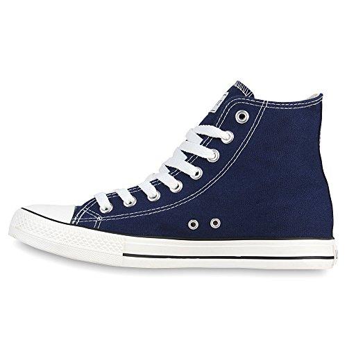 Herren Schuhe Sneakers | Sneaker High Denim | Turnschuhe Camouflage | Stoffschuhe Schnürer Dunkelblau