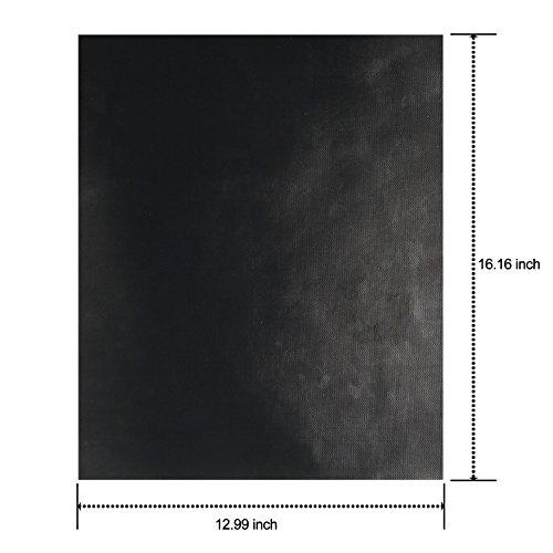 41dRKzexsGL - Dobet BBQ-Grillmatten-Set 3Stück 40,6x 33cm Fiberglas wiederverwendbares Grill-Zubehör–funktioniert auf Gas-, Holzkohle-Grill, Öfen, Elektro-Grills und mehr