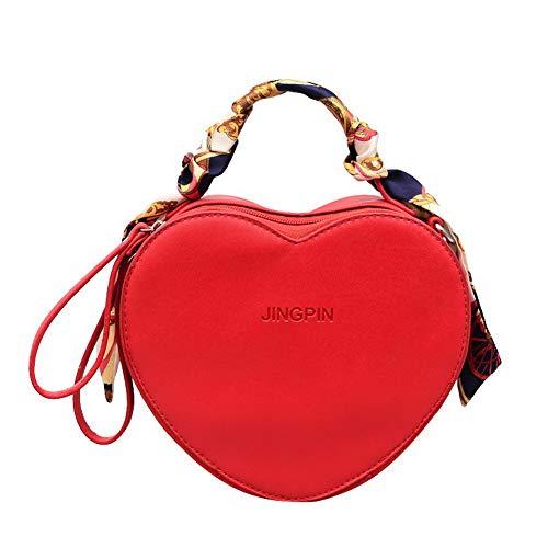 AgooLar Donna Luccichio Casuale Borse di tela Borse a tracolla,GMMBA204443,Rosso