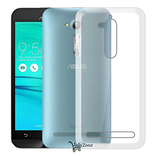 Hello Zone Exclusive Soft Transparent Crystal Clear Back Cover Back Case Cover For Asus Zenfone Go 5.0 ZC500TG  available at amazon for Rs.129