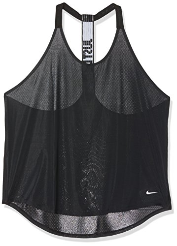 Nike W TANK ELEVATE ELASTIKA JDI - Tank T-Shirt Schwarz - S - Damen (Top Nike-loose-training)