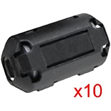 10 Pcs UF70B Cable Clip Negro Movible Anillo de Nucleo de Ferrita de 7mm Diámetro Interior