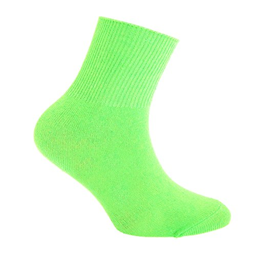 Silky Childrens Boys/Girls Dance Socks In Neon Colours (1 Pair)