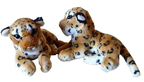 Geschenkestadl 2er Set Leoparden Baby Braun Plüschtier Babies Kuscheltier Stofftier