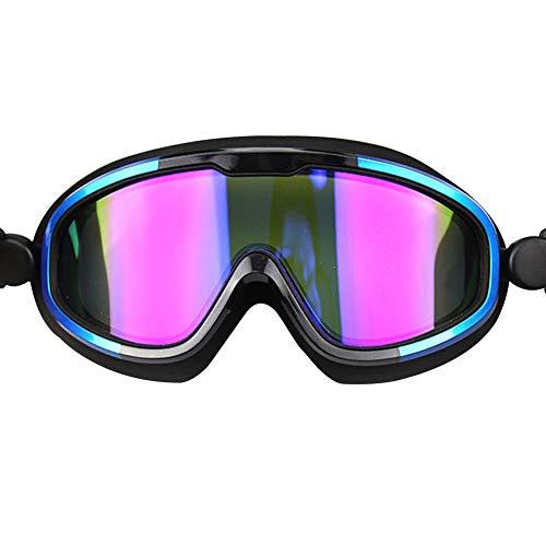 YKXIAOSI Schwimmbrille Big Box Schwimmbrille FüR Erwachsene Anti-Fog wasserdichte Schwimmbrille Silikon Einteilige Brille