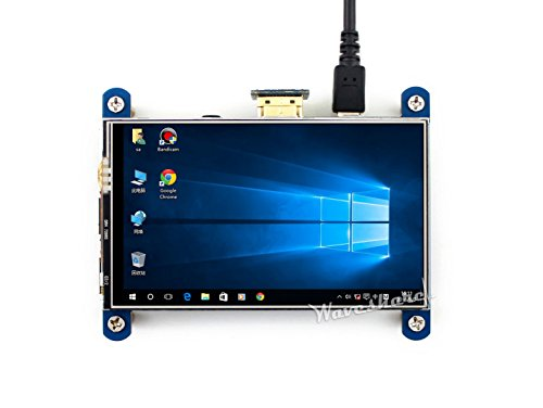 Waveshare 4inch HDMI LCD Resistive Touch Screen 800x480 High Resolution HDMI interface IPS Screen Designed for Raspberry Pi 3 B/2B/B +/B (4in Lcd)