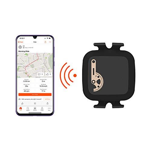 CooSpo Trittfrequenzsensor Ant+ Geschwindigkeitssensor Bluetooth Fahrrad Sensor Speed Cadence Sensor Wasserdicht Ant+ Sensor für iPhone, Android - Polar Speed Sensor