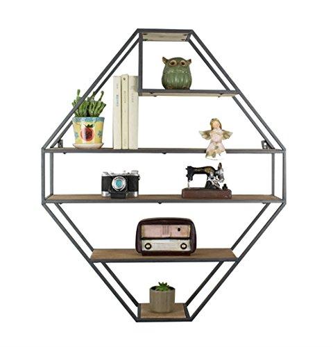 Étagère murale en bois fer en métal étagère suspendue étagères flottantes étagères en forme de cube étagère de rangement étagère Vintage décorations Design (noir) (taille : 70×20×83.5cm)