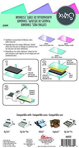 Sizzix Big Shot Plus Accessori Cutting Pads, Standard, 1 Paio, Acciaio Inossidabile, Trasparente/Menta - 3