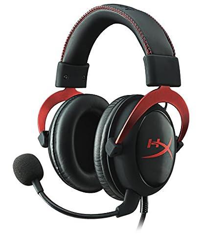 HyperX Cloud II Casque Gaming pour PC/PS4/Mac/Mobile - Rouge (Reconditionné Certifié)