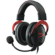 Kingston HyperX KHX-HSCP-RDRC Cloud II Gaming Headset for PC/PS4/Mac/Mobile (Refurbished), Red