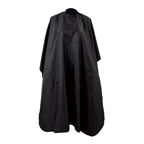 Vestido del Peluquería,AZXES,Protectores de Ropa en Resistente al Agua, Peluquero del Abrigo Grande de Pelo,Color Negro
