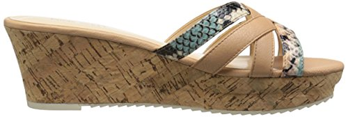 Nove in pelle occidentale Caserta Platform Sandal Nat/Ltnm