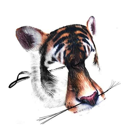 Realistisch Gesicht-maske Buchwoche Tier Zoo Dschungel Wald Creature Karneval Gesichtsmaske für Erwachsene und Kinder - Tiger