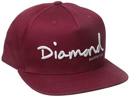 Diamond Supply Co. Herren OG Script Snapback - Rot - Einheitsgröße (Supply Snapback Diamond)