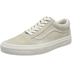 Vans Old Skool, Zapatillas de Skateboarding para Mujer, Beige (Silver Lining Blanc Qe3), 34.5 EU