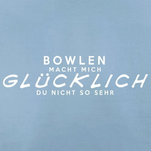 Bowlen macht mich glücklich - Herren T-Shirt - 13 Farben Himmelblau