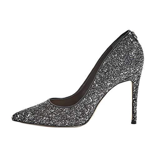 Guess Scarpe Donna Decollete BELANI Effetto Glitter Silver FL8BE2FAM08 n° 35