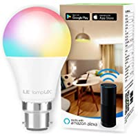 LE Alexa Smart Bulb Bayonet, App or Voice Control, B22 Colour Changing Light Bulb, Works with Alexa and Google Home, No Hub Required (8.5W = 60W, RGB and White 2700K - 6500K, 2.4GHz WiFi)