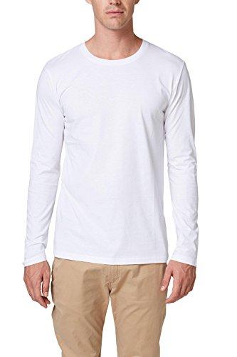 ESPRIT Herren Langarmshirt 998EE2K820, Weiß (White 100), XX-Large Preisvergleich