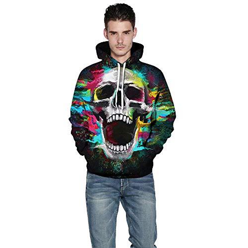 ck Sweatshirts Weihnachten mit Aufdruck Herbst Winter Hemd Langarm Top Jumper Shirt ()