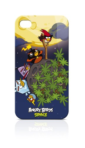 Gear4 ICAS406G Angry Birds Space Soft Touch IML Family Schutzhülle für Apple iPhone 4/4S blau Angry Birds Iphone